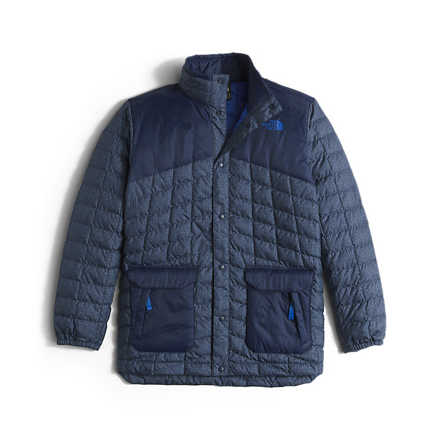 CHEAP NORTH FACE BOYS' HAYDEN THERMOBALL JACKET COSMIC BLUE DENIM PRINT ONLINE