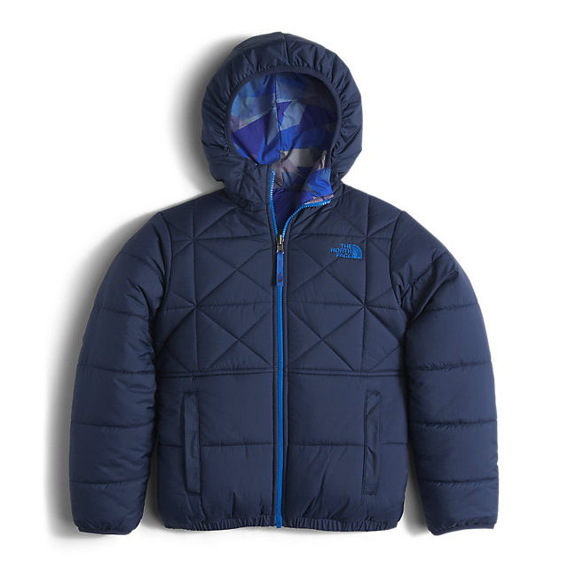 CHEAP NORTH FACE BOYS' REVERSIBLE PERRITO JACKET COSMIC BLUE ONLINE