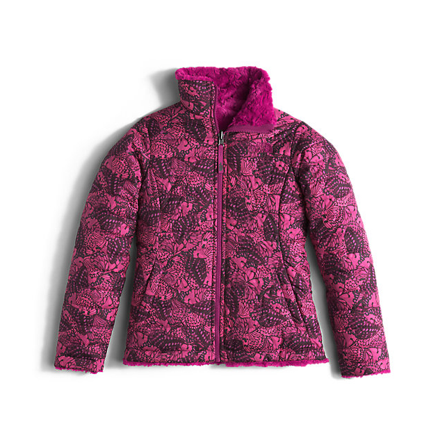 CHEAP NORTH FACE GIRLS' REVERSIBLE MOSSBUD SWIRL JACKET ROXBURY PINK BUTTERFLY CAMO ONLINE