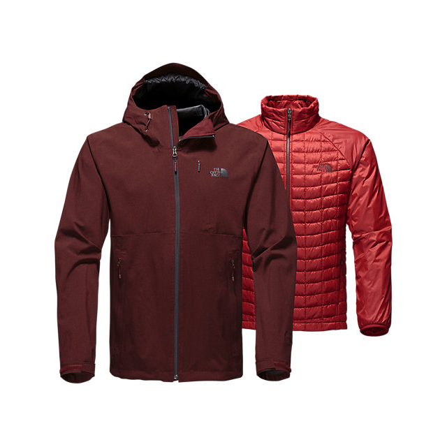 CHEAP NORTH FACE MEN'S THERMOBALL TRICLIMATE JACKET SEQUOIA RED HEATHER ONLINE