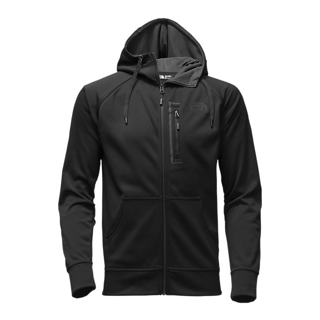 CHEAP NORTH FACE MEN'S MACK MAYS FULL ZIP HOODIE BLACK / BLACK ONLINE