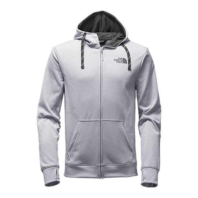 CHEAP NORTH FACE MEN'S SURGENT LFC FULL ZIP HOODIE LIGHT GREY HEATHER (STD)/ASPHALT GREY ONLINE