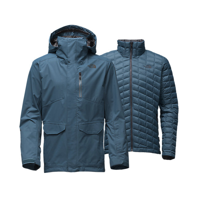 CHEAP NORTH FACE MEN'S THERMOBALL SNOW TRICLIMATE PARKA DIESEL BLUE ONLINE