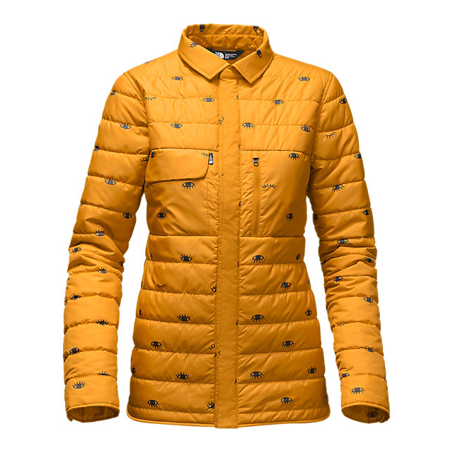 CHEAP NORTH FACE WOMEN'S WHOISTHIS JACKET CITRINE YELLOW MADE U LOOK PRINT ONLINE