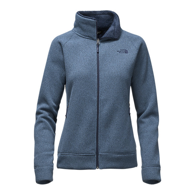 CHEAP NORTH FACE WOMEN'S CRESCENT RASCHEL FULL ZIP JACKET SHADY BLUE HEATHER ONLINE