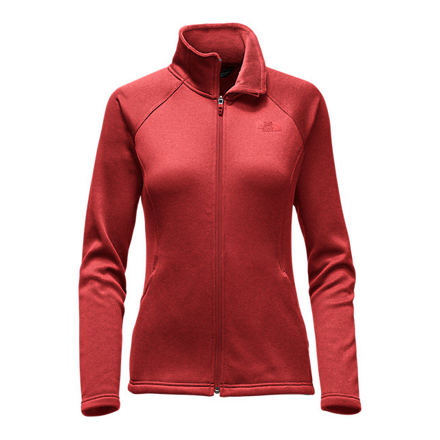 CHEAP NORTH FACE WOMEN'S AGAVE FULL ZIP HIGH RISK RED HEATHER ONLINE