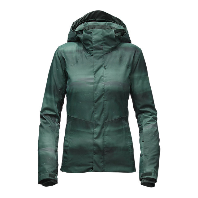 CHEAP NORTH FACE WOMEN'S POWDANCE JACKET DARKEST SPRUCE SNOWSCAPE PRINT ONLINE