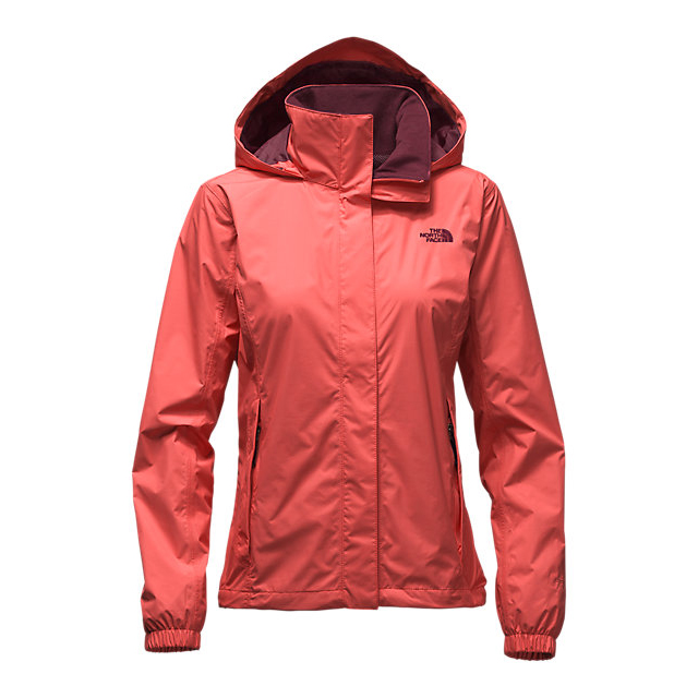 CHEAP NORTH FACE WOMEN'S RESOLVE JACKET SPICED CORAL ONLINE