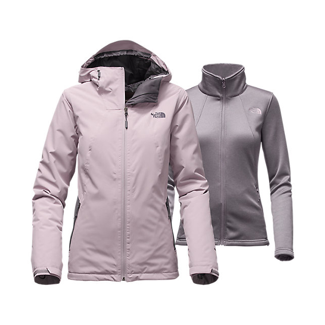 CHEAP NORTH FACE WOMEN'S HIGHANDDRY TRICLIMATE JACKET QUAIL GREY/RABBT GREY ONLINE