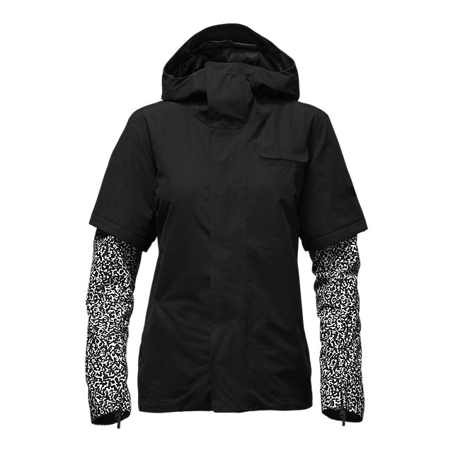 CHEAP NORTH FACE WOMEN'S STRUTTIN JACKET BLACK-BLACK WHITEOUT PRINT ONLINE