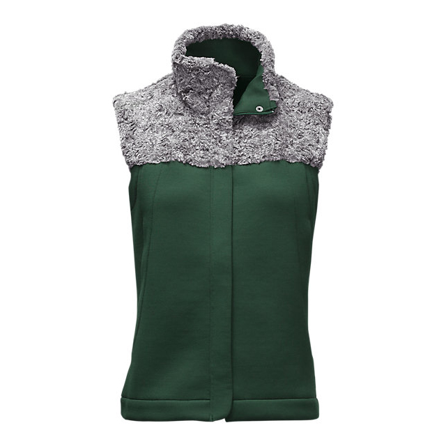 CHEAP NORTH FACE WOMEN'S HYBRINATION THERMAL 3D VEST SCARAB GREEN BLACK HEATHER ONLINE
