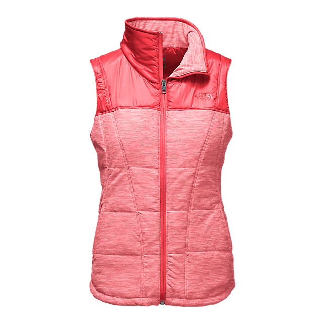 CHEAP NORTH FACE WOMEN'S PSEUDIO VEST MELON RED HEATHER/MELON RED ONLINE
